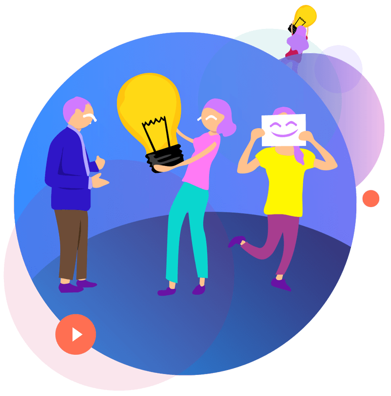 social image illustration of happy people