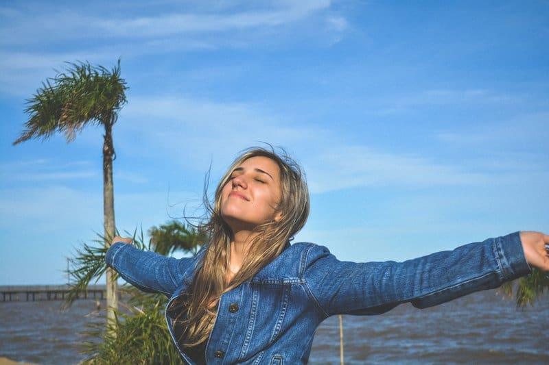 social enjoy - girl enjoying breeze
