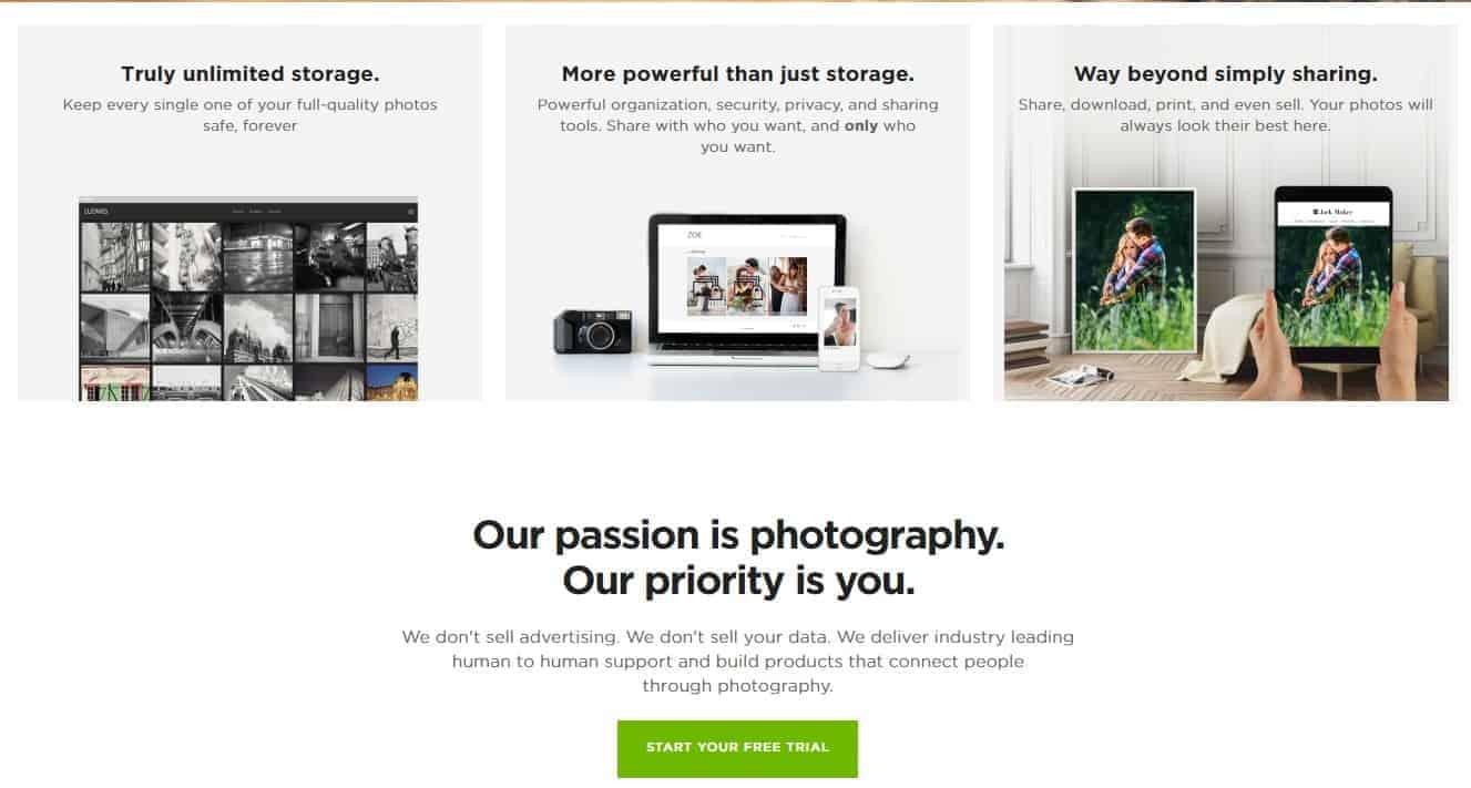 Online Photo Storage unlimited
