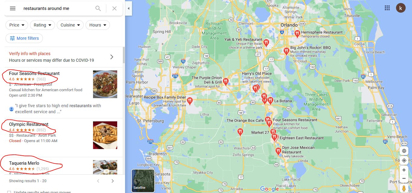 Google My Business Listin
